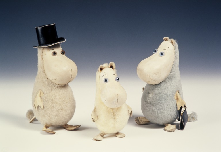 Characters by Jansson Tove, toys designed by Atelier Fauni, photo taken by Helsingin kaupunginmuseo
